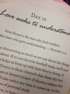 Love Seeks to Understand